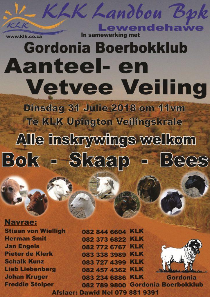 Gordonia Boerbokklub veiling