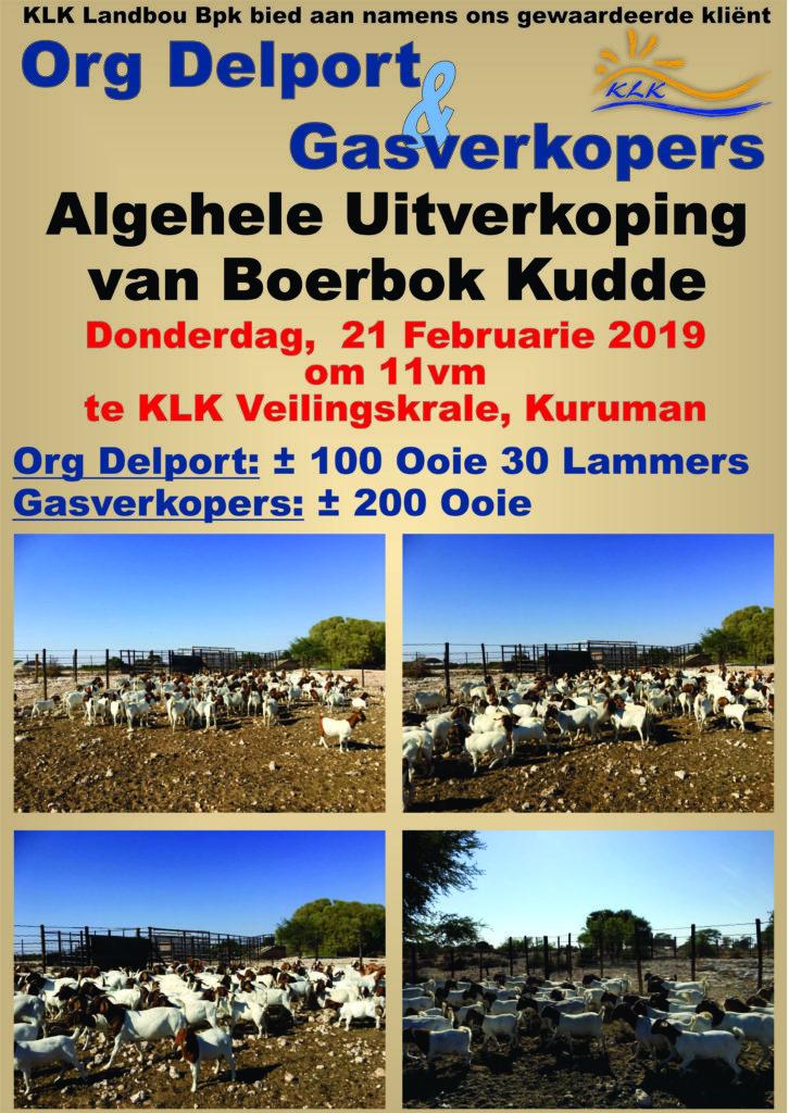 Org Delport Algehele Boerbok Uitverkoping, Kuruman