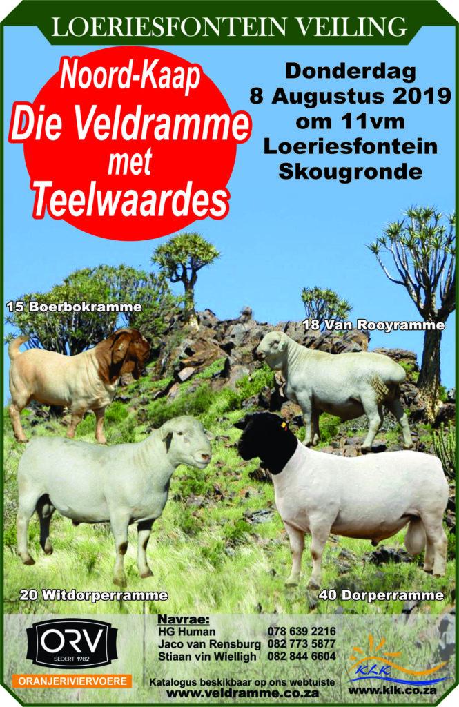 Noordkaap Veldramme – Loeriesfontein veiling